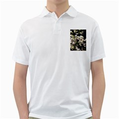 Japanese Cherry Blossom Golf Shirts by picsaspassion