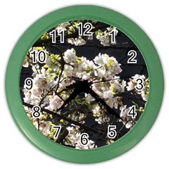Japanese Cherry Blossom Color Wall Clocks by picsaspassion