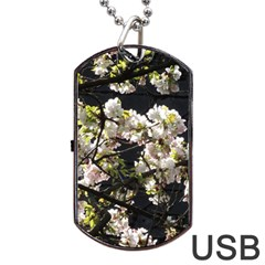 Japanese Cherry Blossom Dog Tag Usb Flash (two Sides)  by picsaspassion