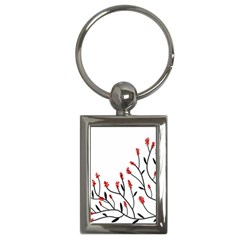 Elegant Tree Key Chains (rectangle)  by Valentinaart
