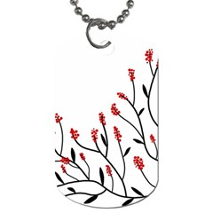 Elegant Tree Dog Tag (two Sides) by Valentinaart