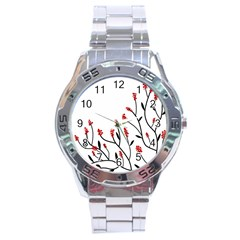 Elegant Tree Stainless Steel Analogue Watch