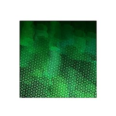 Ombre Green Abstract Forest Satin Bandana Scarf by DanaeStudio