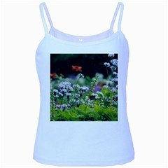 Wild Flowers Baby Blue Spaghetti Tank by picsaspassion