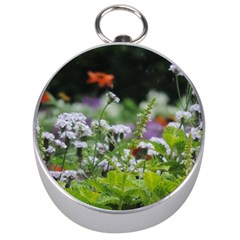 Wild Flowers Silver Compasses by picsaspassion