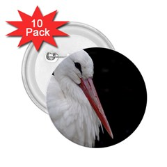 Stork Bird 2 25  Buttons (10 Pack)
