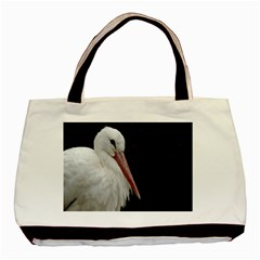 Stork Bird Basic Tote Bag by picsaspassion