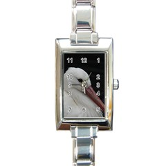 Wild Stork Bird Rectangle Italian Charm Watch by picsaspassion