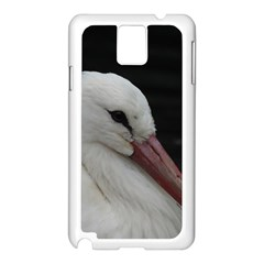 Wild Stork Bird Samsung Galaxy Note 3 N9005 Case (white)