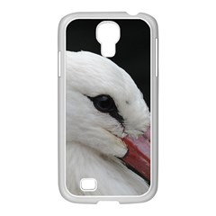 Wild Stork Bird, Close Up Samsung Galaxy S4 I9500/ I9505 Case (white)