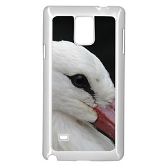 Wild Stork Bird, Close Up Samsung Galaxy Note 4 Case (white) by picsaspassion