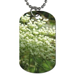 White Summer Flowers Dog Tag (one Side)
