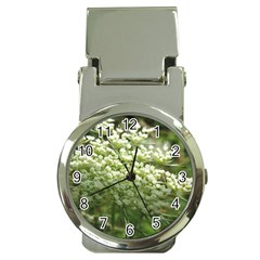 White Summer Flowers Money Clip Watches by picsaspassion