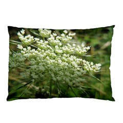 White Summer Flowers Pillow Case (two Sides) by picsaspassion