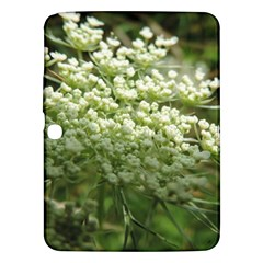 White Summer Flowers Samsung Galaxy Tab 3 (10 1 ) P5200 Hardshell Case  by picsaspassion