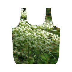White Summer Flowers Full Print Recycle Bags (m)  by picsaspassion