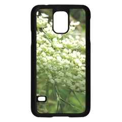 White Summer Flowers Samsung Galaxy S5 Case (black)