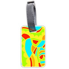 Colorful Decor Luggage Tags (one Side)  by Valentinaart