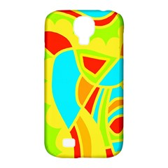 Colorful Decor Samsung Galaxy S4 Classic Hardshell Case (pc+silicone) by Valentinaart