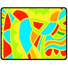 Colorful Decor Double Sided Fleece Blanket (medium)  by Valentinaart