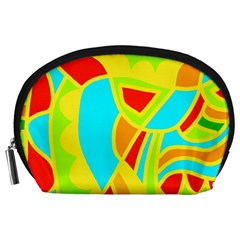 Colorful Decor Accessory Pouches (large)  by Valentinaart