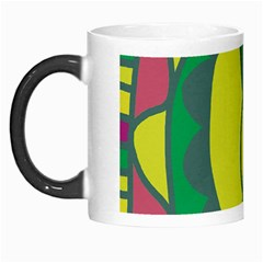 Green Abstract Decor Morph Mugs by Valentinaart