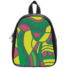 Green Abstract Decor School Bags (small)