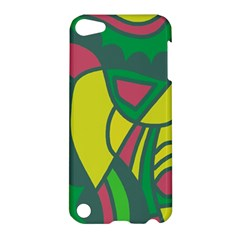 Green Abstract Decor Apple Ipod Touch 5 Hardshell Case by Valentinaart