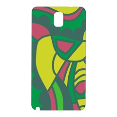 Green Abstract Decor Samsung Galaxy Note 3 N9005 Hardshell Back Case by Valentinaart