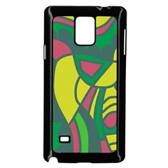 Green Abstract Decor Samsung Galaxy Note 4 Case (black)