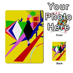 Yellow Abstraction Multi Purpose Cards (rectangle)