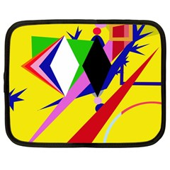 Yellow Abstraction Netbook Case (xl)  by Valentinaart