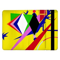 Yellow Abstraction Samsung Galaxy Tab Pro 12 2  Flip Case