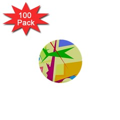 Colorful Abstract Art 1  Mini Buttons (100 Pack)  by Valentinaart