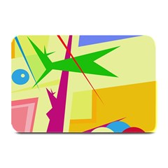 Colorful Abstract Art Plate Mats by Valentinaart