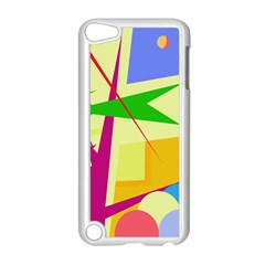Colorful Abstract Art Apple Ipod Touch 5 Case (white) by Valentinaart