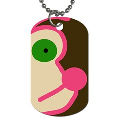 Dog Face Dog Tag (one Side)