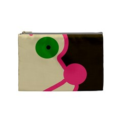 Dog Face Cosmetic Bag (medium)  by Valentinaart