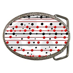 Dots And Lines Belt Buckles by Valentinaart