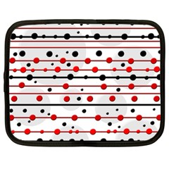 Dots And Lines Netbook Case (xxl)  by Valentinaart