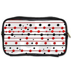 Dots And Lines Toiletries Bags 2 Side