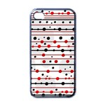 Dots and lines Apple iPhone 4 Case (Black) Front