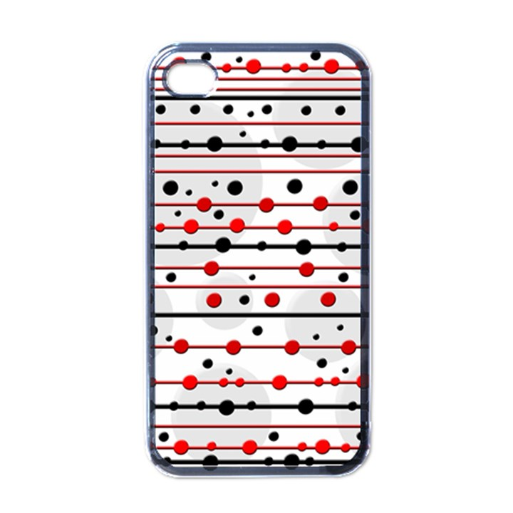 Dots and lines Apple iPhone 4 Case (Black)