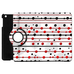 Dots And Lines Apple Ipad Mini Flip 360 Case by Valentinaart