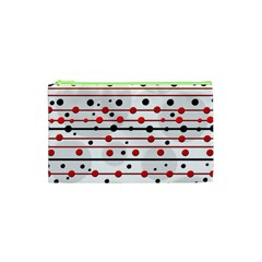 Dots And Lines Cosmetic Bag (xs) by Valentinaart