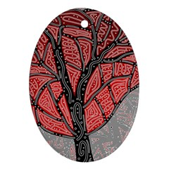 Decorative Tree 1 Ornament (oval)  by Valentinaart