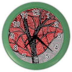 Decorative Tree 1 Color Wall Clocks by Valentinaart