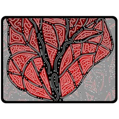 Decorative Tree 1 Fleece Blanket (large)  by Valentinaart