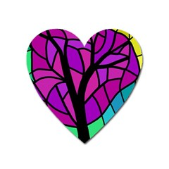 Decorative Tree 2 Heart Magnet by Valentinaart