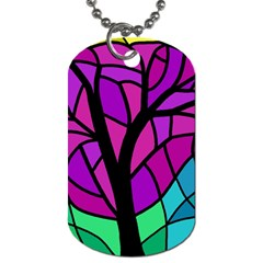 Decorative Tree 2 Dog Tag (two Sides) by Valentinaart